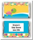 Sea Turtle Girl - Personalized Baby Shower Mini Candy Bar Wrappers