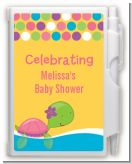 Sea Turtle Girl - Baby Shower Personalized Notebook Favor