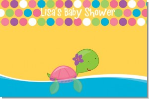 Sea Turtle Girl - Personalized Baby Shower Placemats