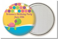 Sea Turtle Girl - Personalized Birthday Party Pocket Mirror Favors