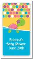 Sea Turtle Girl - Custom Rectangle Baby Shower Sticker/Labels