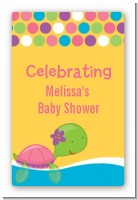 Sea Turtle Girl - Custom Large Rectangle Baby Shower Sticker/Labels