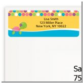 Sea Turtle Girl - Birthday Party Return Address Labels