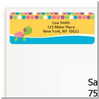 Sea Turtle Girl - Baby Shower Return Address Labels