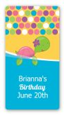 Sea Turtle Girl - Custom Rectangle Birthday Party Sticker/Labels