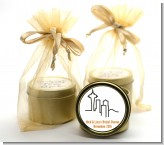 Seattle Skyline - Bridal Shower Gold Tin Candle Favors