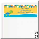 Sea Turtle Boy - Baby Shower Return Address Labels