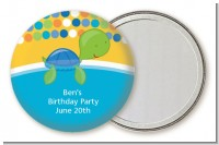 Sea Turtle Boy - Personalized Birthday Party Pocket Mirror Favors