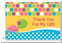 Sea Turtle Girl - Baby Shower Thank You Cards