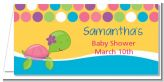 Sea Turtle Girl - Personalized Baby Shower Place Cards