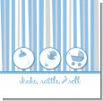 Shake, Rattle & Roll Blue Baby Shower Theme thumbnail