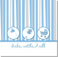 Shake, Rattle & Roll Blue Baby Shower Theme
