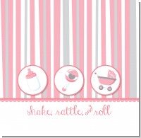 Shake, Rattle & Roll Pink Baby Shower Theme