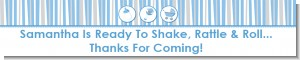 Shake, Rattle & Roll Blue - Personalized Baby Shower Banners