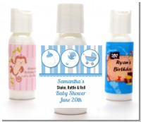 Shake, Rattle & Roll Blue - Personalized Baby Shower Lotion Favors
