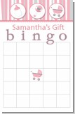Shake, Rattle & Roll Pink - Baby Shower Gift Bingo Game Card
