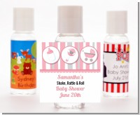 Shake, Rattle & Roll Pink - Personalized Baby Shower Hand Sanitizers Favors