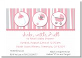 Shake, Rattle & Roll Pink - Baby Shower Petite Invitations
