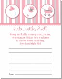 Shake, Rattle & Roll Pink - Baby Shower Notes of Advice
