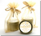 Shake, Rattle & Roll Yellow - Baby Shower Gold Tin Candle Favors