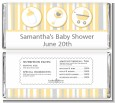 Shake, Rattle & Roll Yellow - Personalized Baby Shower Candy Bar Wrappers thumbnail