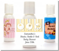Shake, Rattle & Roll Yellow - Personalized Baby Shower Lotion Favors