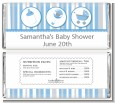 Shake, Rattle & Roll Blue - Personalized Baby Shower Candy Bar Wrappers thumbnail