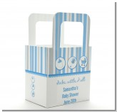 Shake, Rattle & Roll Blue - Personalized Baby Shower Favor Boxes