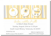 Shake, Rattle & Roll Yellow - Baby Shower Petite Invitations