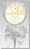 Shake, Rattle & Roll Pink - Personalized Baby Shower Lollipop Favors