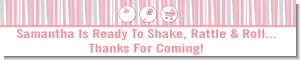 Shake, Rattle & Roll Pink - Personalized Baby Shower Banners