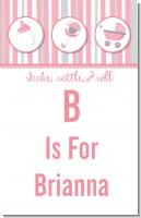 Shake, Rattle & Roll Pink - Personalized Baby Shower Nursery Wall Art
