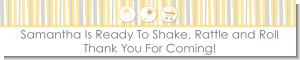 Shake, Rattle & Roll Yellow - Personalized Baby Shower Banners