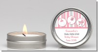 Shake, Rattle & Roll Pink - Baby Shower Candle Favors