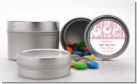 Shake, Rattle & Roll Pink - Custom Baby Shower Favor Tins