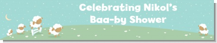 Sheep - Personalized Baby Shower Banners