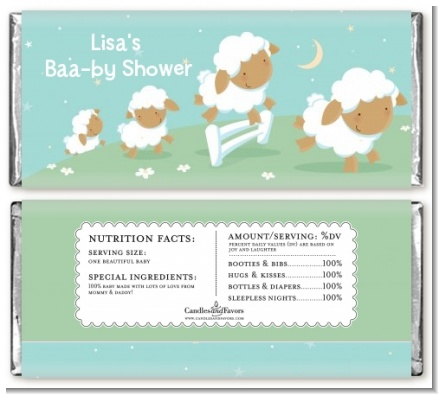 Sheep - Personalized Baby Shower Candy Bar Wrappers