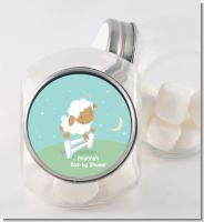 Sheep - Personalized Baby Shower Candy Jar