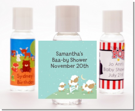 Sheep - Personalized Baby Shower Hand Sanitizers Favors