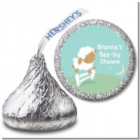 Sheep - Hershey Kiss Baby Shower Sticker Labels