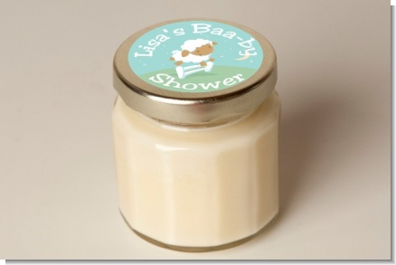 Sheep - Baby Shower Personalized Candle Jar