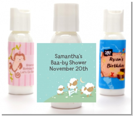 Sheep - Personalized Baby Shower Lotion Favors