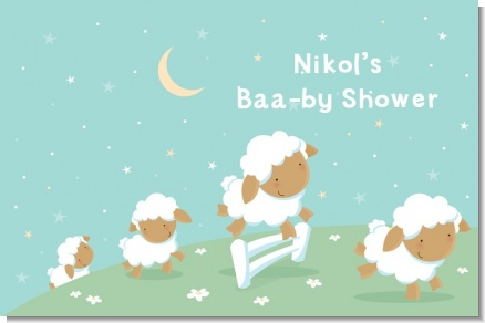 Sheep - Personalized Baby Shower Placemats
