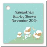 Sheep - Personalized Baby Shower Card Stock Favor Tags