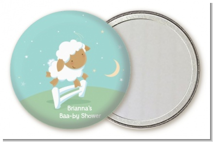 Sheep - Personalized Baby Shower Pocket Mirror Favors