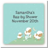 Sheep - Square Personalized Baby Shower Sticker Labels