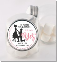 She Said Yes - Personalized Bridal Shower Candy Jar