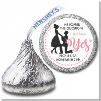 She Said Yes - Hershey Kiss Bridal Shower Sticker Labels