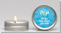 She's Ready To Pop Blue - Baby Shower Candle Favors