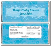 She's Ready To Pop Blue - Personalized Baby Shower Candy Bar Wrappers